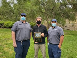 4S Ranch Water Reclamation Plant crew pose with award