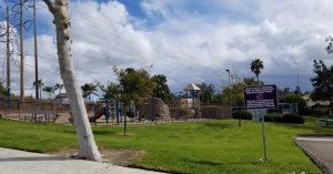Park irrigated by recycled water