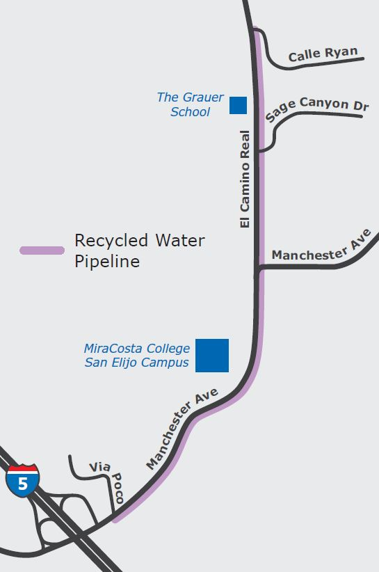 Map of project area along Manchester avenue Via Poco to Calle Ryan
