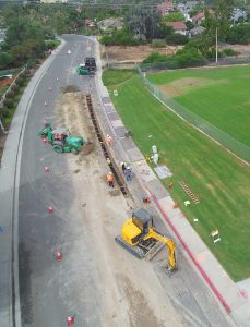 Avenida La Posts Recycled Water Project - pipe installation