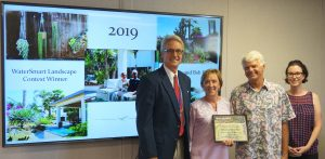 2019 landcape contest winners at board meeting