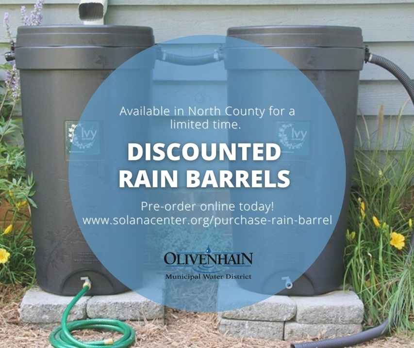 Image of two rain barrels